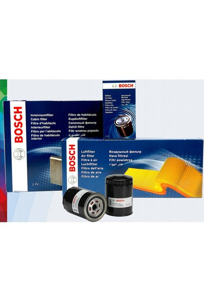 Bosch Renault Kangoo 1 1.5 Dcı 3' Lü Filtre Seti 2000-2007