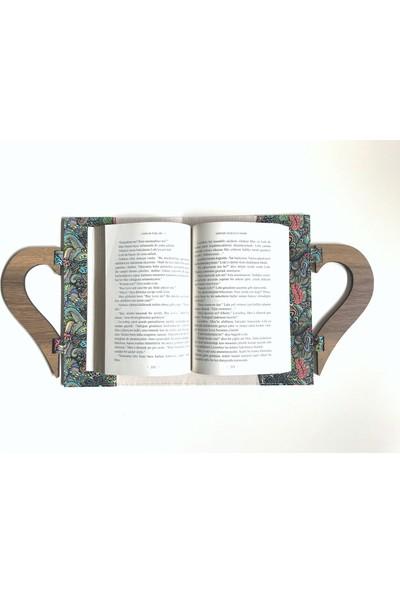 Yedi Kedi Kitap Çantası Ahşap Saplı Mandala
