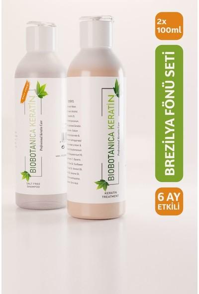 Biobotanica Brezilya Fönü Keratini/saç Düzleştirici/ 2X100ML Şampuan+Keratin Bakımı Mini Set