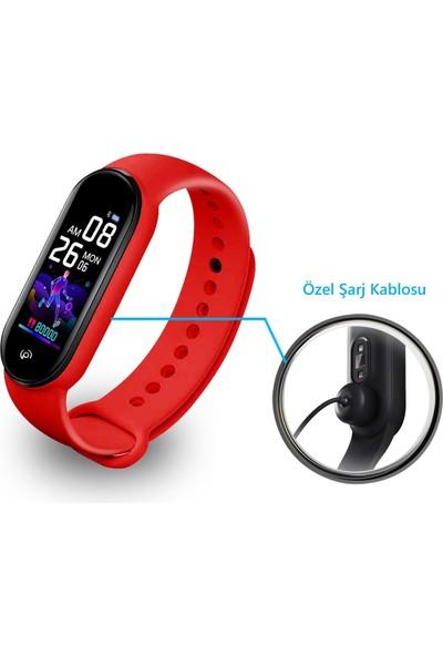 Polosmart PSSW09 Smartstep Akıllı Bileklik 2'li Set Siyah-Kırmızı