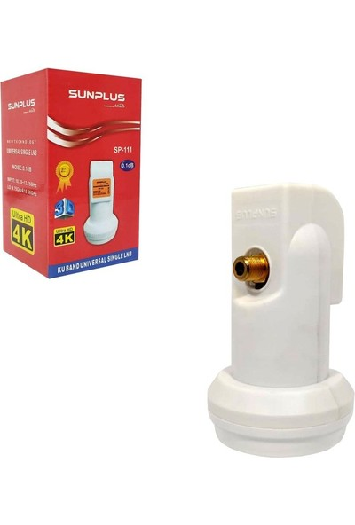 Sun Plus Sunplus SP-111 Universal Tekli Lnb Gold 0.1db 3D 4K