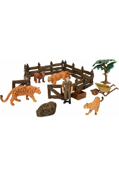 Crazoo Wild Life Vahşi Hayvanlar Çiftlik Seti Leopar Ailesi