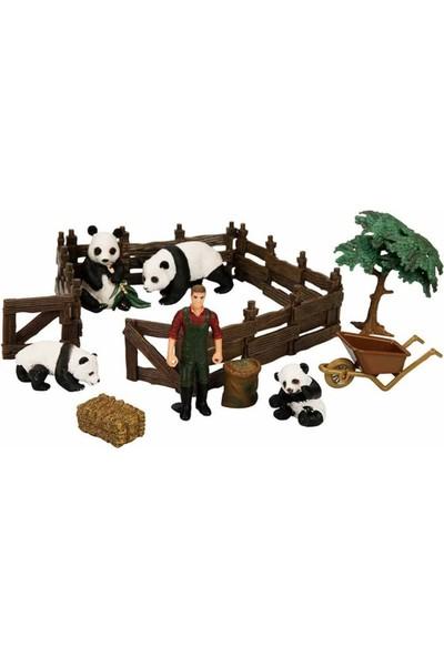 Crazoo Wild Life Vahşi Hayvanlar Çiftlik Seti Panda Ailesi