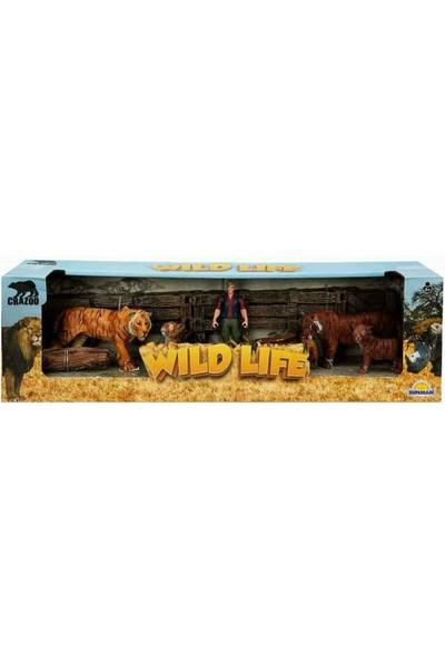 Crazoo Wild Life Vahşi Hayvanlar Çiftlik Seti Kaplan Ailesi
