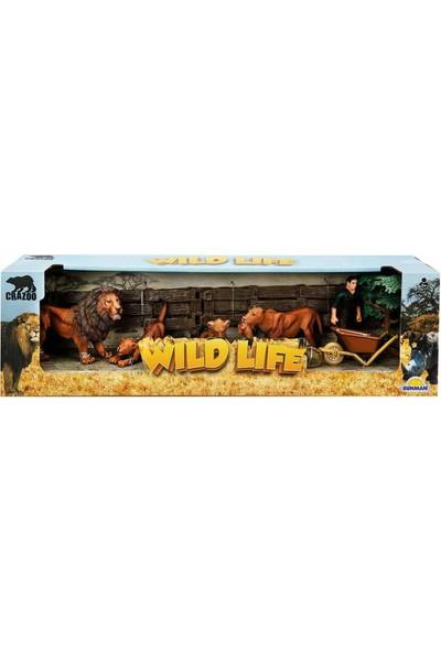 Crazoo Wild Life Vahşi Hayvanlar Çiftlik Seti Aslan Ailesi
