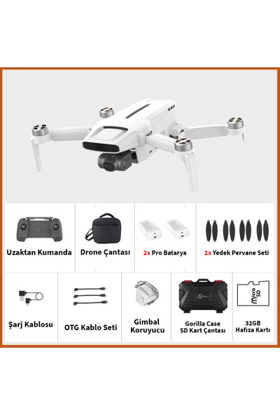Fimi X8 Mini Pro Combo Drone (Fimi Türkiye Garantili)