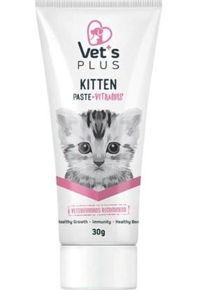 Vet's Plus Yavru Kediler Için Multi Vitamin Kedi Macunu 30GR