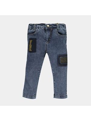 Overdo Baskılı Erkek Çocuk Kot Pantolon