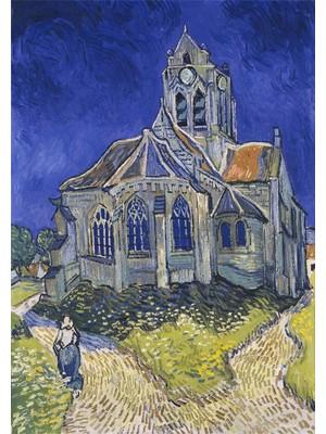 Hobimania Kanvas Tablo Vincent Van Gogh The Church At Auvers 35X50 cm Duvar Dekorasyon Tablo Moda