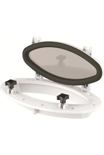 SEAFLO Plastik Lumboz Oval 20X40 cm Beyaz