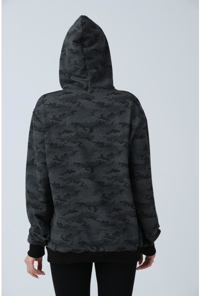 Alexander Gardi Kamuflaj Desenli Kapüşonlu Sweatshirt (E21-72100)