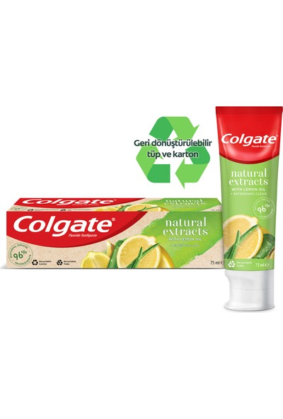 Colgate Natural Extracts Limon Yağı Diş Macunu 75 ml