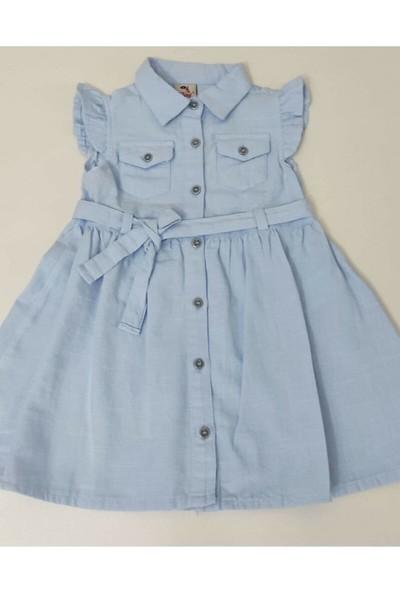 Varol Kids Kız Çocuk Keten Elbise