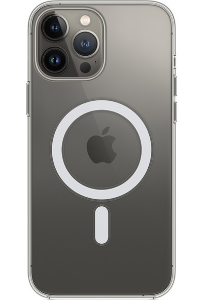 Coverzone iPhone 13 Pro Max Kılıf Magsafe Özellikli Şeffaf Kılıf