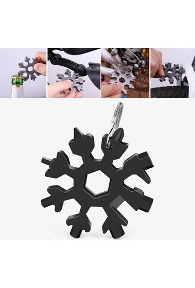Belsa 18 In 1 Düz Yıldız Tornavida Alyan Konserve Açıcı Ingiliz Anahtarı Edc Tools Paslanmaz Çelik