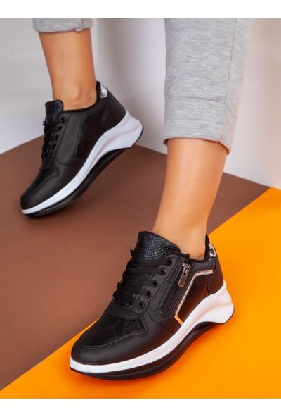 Ayakkabı Havuzu Spor Ayakkabı - Siyah Gümüş - Ayakkabı Havuzu