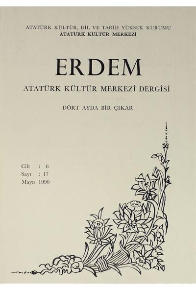 Erdem Atatürk Kültür Merkezi Dergisi Sayı : 17 Mayıs 1990 (Cilt 6)