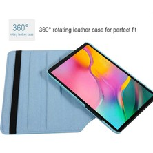 Cupcase Samsung Galaxy Tab A 10.1 (2019) T510 Kılıf 360 Dönebilen Standlı Deri - Good Day-Lacivert