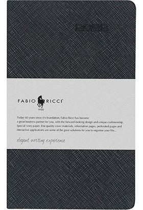 Fabio Ricci 1033 - 2022 Haftalık Çizgili Ajanda 9 x 14 cm Siyah