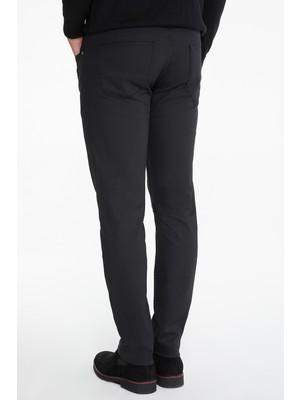 Hatemoğlu Siyah Slim Fit Kanvas Pantolon
