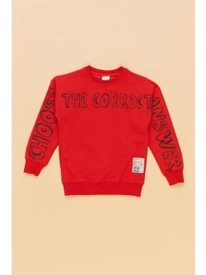 FullaModa The Correct Baskılı Çocuk Sweatshirt