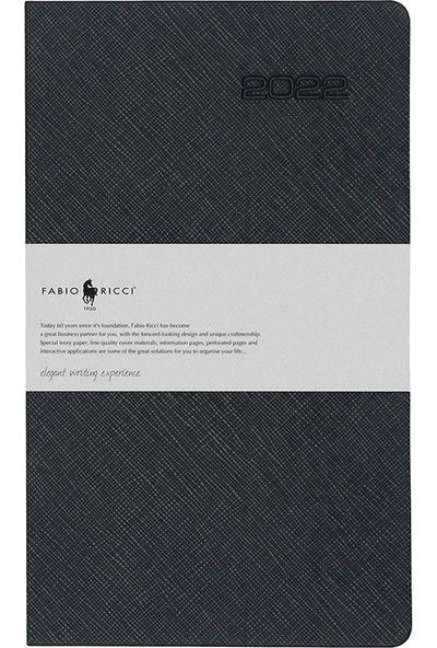 Fabio Ricci 1030 - 2022 Günlük Ajanda 13 x 21 cm Siyah