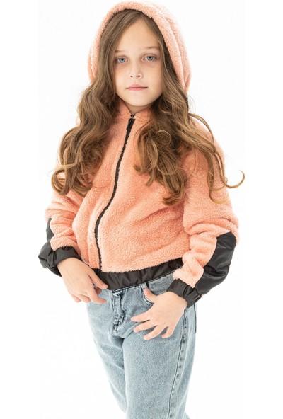 Zepkids Kız Çocuk Fermuarlı Büzgülü Pelüş Hırka 8-12 Yaş