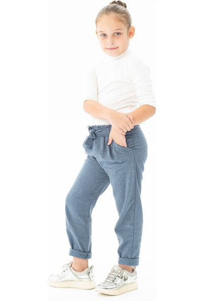 Zepkids Kız Çocuk Pantalon Kuşaklı 5-8 Yaş
