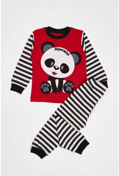 Zepkids Çocuk Pijama Takımı Panda Baskılı 1-3 Yaş