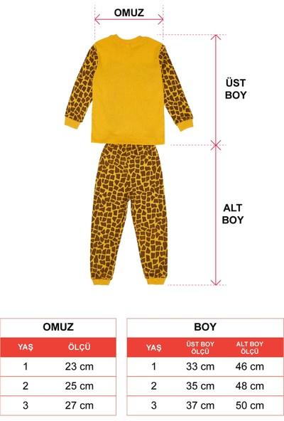 Zepkids Kız Çocuk Pijama Takımı Zo Baskılı 1-3 Yaş Sarı