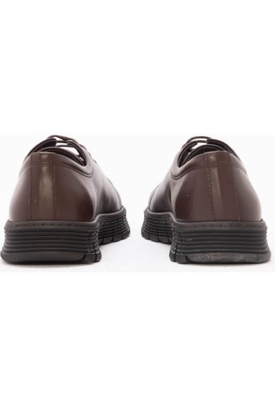 Gusse Abele Erkek Kahverengi Hakıkı Derı Gunluk Ayakkabı