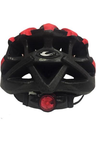 Zozo - Kask - MV29 - Arka LED Lambalı - Kırmızı/siyah - Xl