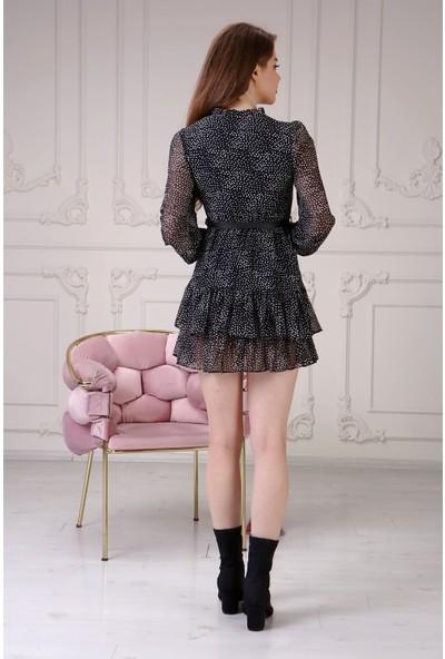 Gimer Avm Kemerli Şifon Kadın Elbise