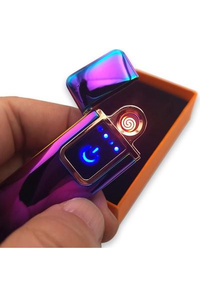 Hediyehanesi USB Şarjlı Çakmak Alevsiz Dokunmatik Elektronik