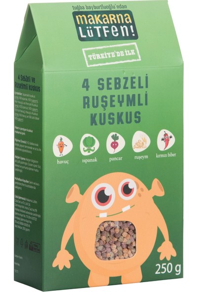 Makarna Lütfen 4 Sebzeli & Ruşeymli Kuskus
