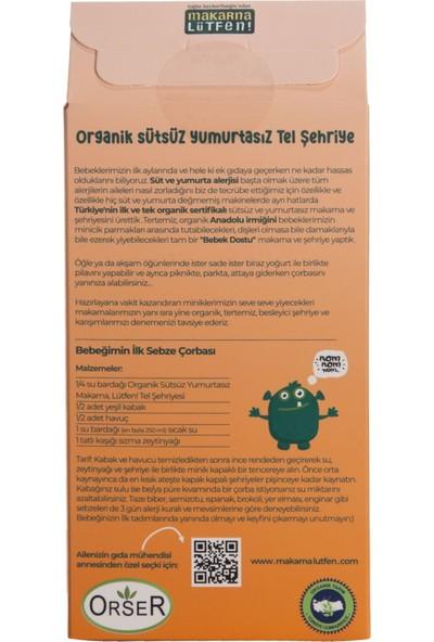 Makarna Lütfen Organik Sütsüz Yumurtasız Tel Şehriye