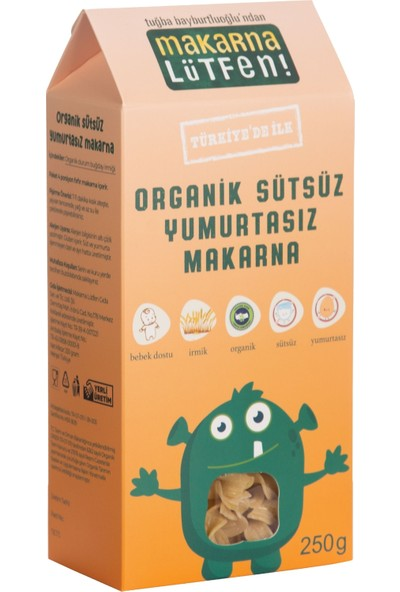 Makarna Lütfen Organik Sütsüz Yumurtasız Makarna