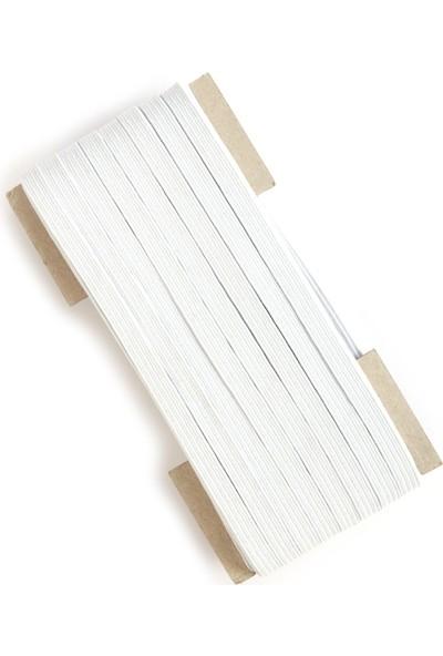 YYB Yassı Beyaz Bel Paça Don Lastiği En: 0,80 cm 20 Metre