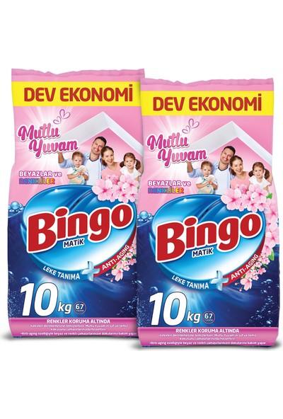Bingo Matik 10 kg Mutlu Yuvam Renkliler ve Beyazlar Toz Çamaşır Deterjanı 2'li