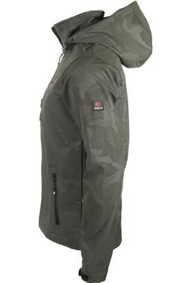 Cresta Kamuflaj Baskılı ve Kapüşonlu Su Geçirmez Softshell Ceket