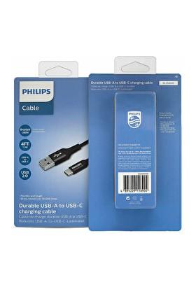 Phılıps USB - Usb-C Şarj Kablosu (1.2m Örgü)