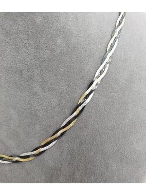 925 Gümüş Italyan Zincir Örgü 925 Ayar Gümüş Kolye