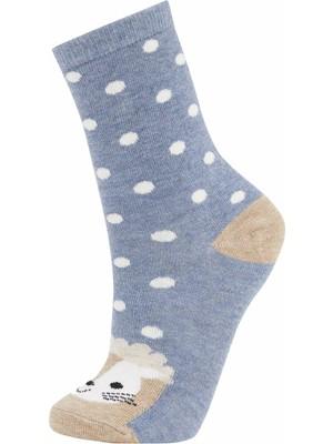 DeFacto Kadın Eğlenceli 3'lü Uzun Çorap L6552AZ21WN