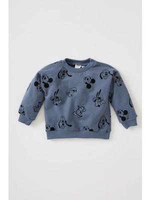 DeFacto Erkek Bebek Mickey & Minnie Lisanslı Regular Fit Sweatshirt W0304A221WN