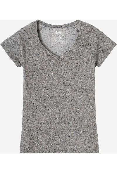 Nyamba Kadın Gri Tişört - Slim - 500 Nyamba Pazarist