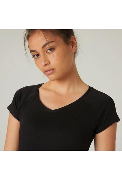 Nyamba Kadın Siyah Tişört - Slim - 500 Nyamba Pazarist