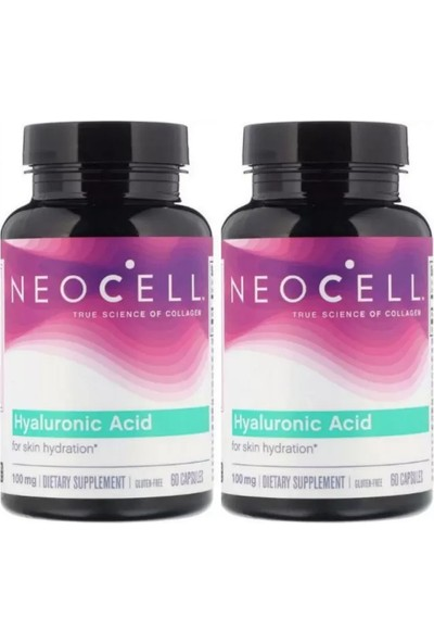 Neocell Hyaluronic Acid 100MG 60×2 120 Capsul Collagen