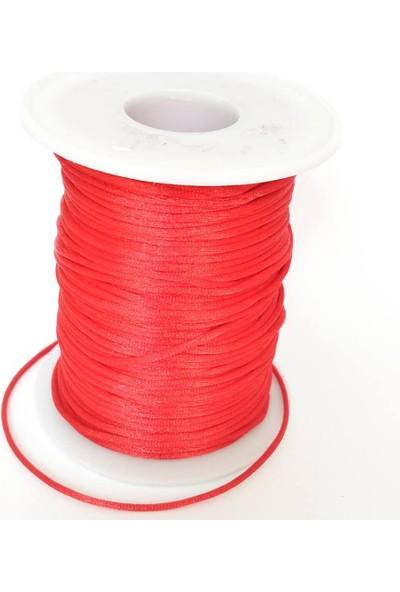 Nimiel 10 Metre Kırmızı Floş Takı Ipi