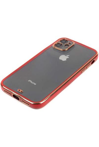 CoverZone iPhone 11 Uyumlu Kılıf Clear Airbag Sert Plastik Kılıf Koyu Pembe