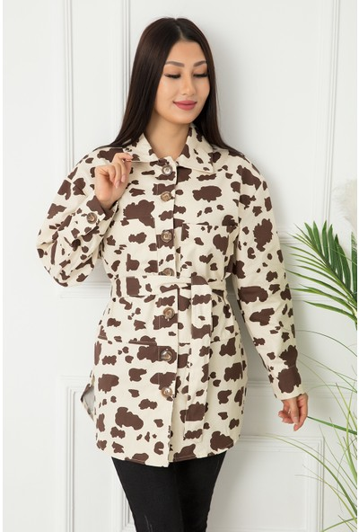 Bayan Yan Yırtmaçlı Gömlek 9052